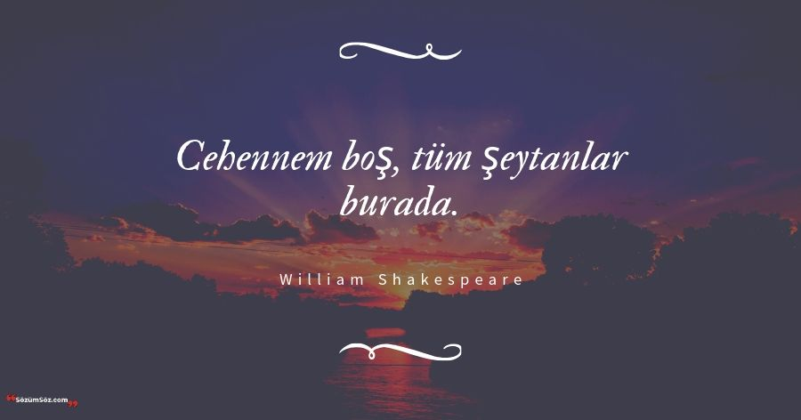 William Shakespeare sözü